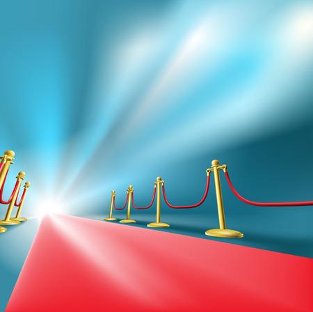 Ilustración del glamour de la alfombra roja