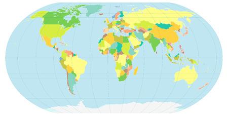 illustration de la planète, illustrant le monde politique