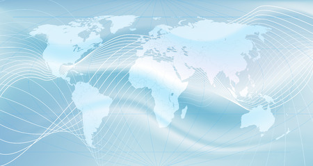 Illustration of the world. An abstract representation of global communications