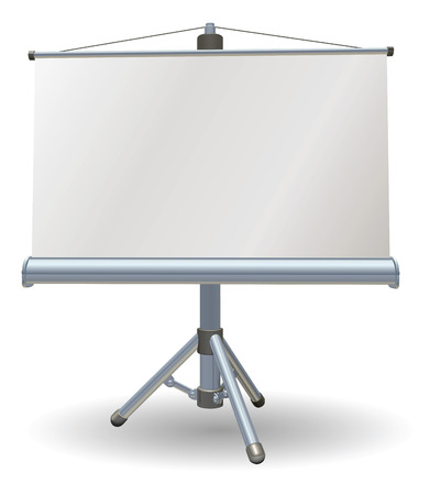 Een lege presentatie of projector roller scherm
