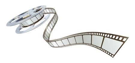 Cola de película película de bobina. Símbolo para el cine.