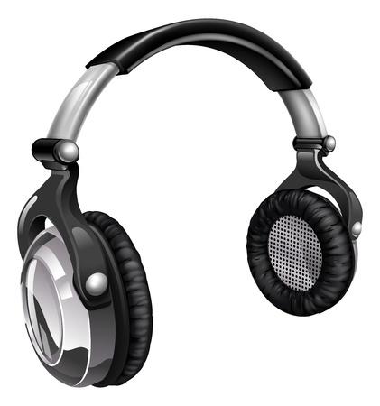 Illustration aus einem Paar von Audio-Musik-Kopfhörer