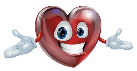 Illustratie van een schattige glimlachende hart cartoon man karakter Vector Illustratie