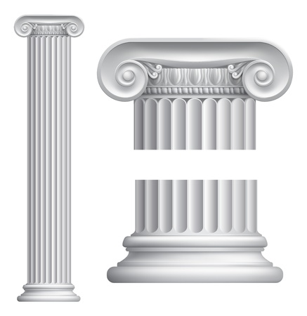 Illustration of classical Greek or Roman Ionic column Stock Vector - 14856268
