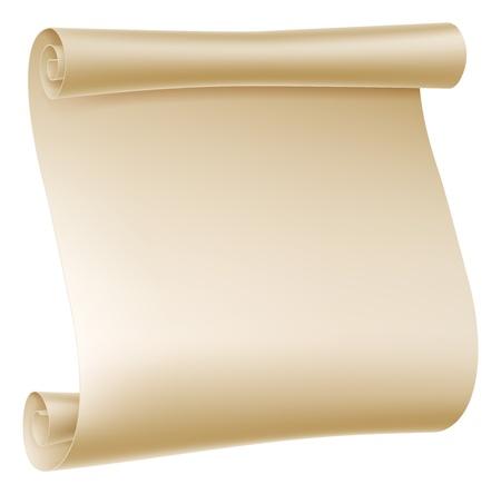Illustration de fond d'un vieux roulé rouleau de papier