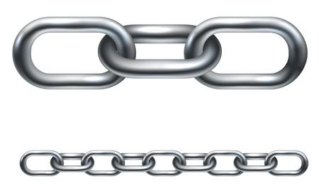 Maglie della catena in metallo. Nella versione vettoriale all'illustrazione è disposto in strati per renderlo più facile per estendere la lunghezza desiderata. Vettoriali