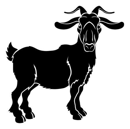 Un ejemplo de una cabra o estilizada ram quizás un tatuaje de cabra Ilustración de vector
