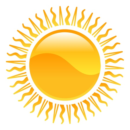 Weather icon clipart sun illustration 版權商用圖片 - 21683605