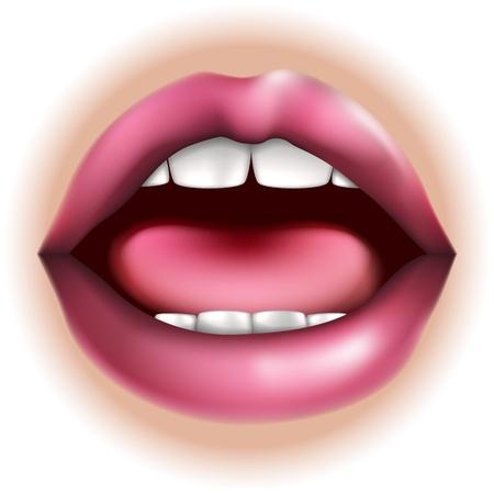 口鼻身体の部分のイラストは、五感で味を表すことができます。  イラスト・ベクター素材