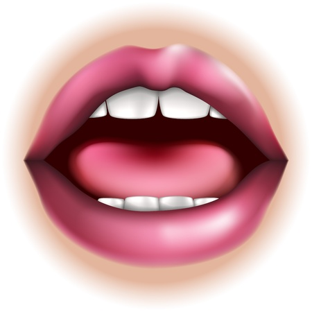 An illustration of a mouth nose body part, could represent taste in the five senses Çizim