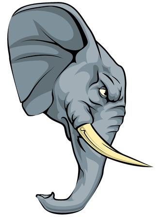Een illustratie van een felle olifant dier karakter of sport mascotte