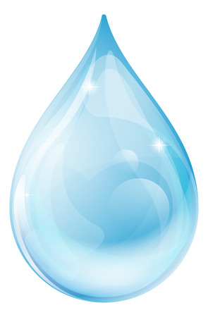 An illustration of a water drop or rain drop