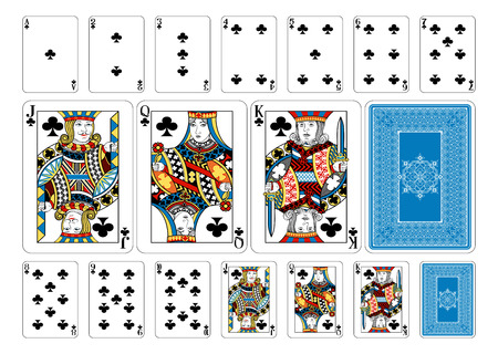 Cards from the Georghiou 14 deck, a beautifully crafted new original playing card deck design. Vettoriali