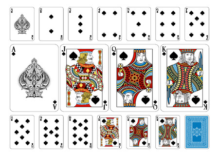 Cards from the Georghiou 14 deck, a beautifully crafted new original playing card deck design. Vectores