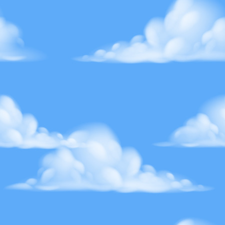 A seamless repeatable tiling cartoon sky background illustration