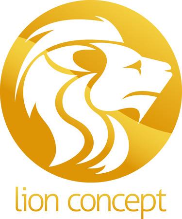 Una ilustración abstracta de un diseño del león del concepto del círculo Foto de archivo - 39781806