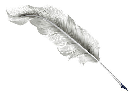 An illustration of a classic antique feather quill pen