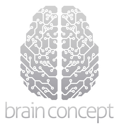 An abstract illustration of an electronic brain, ai artificial intelligence concept 版權商用圖片 - 41322548
