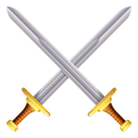 Een illustratie van een paar gekruiste zwaarden