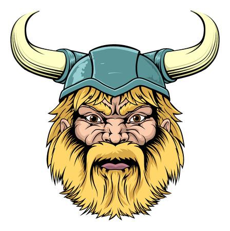 An illustration of a tough looking Viking Warrior mascot