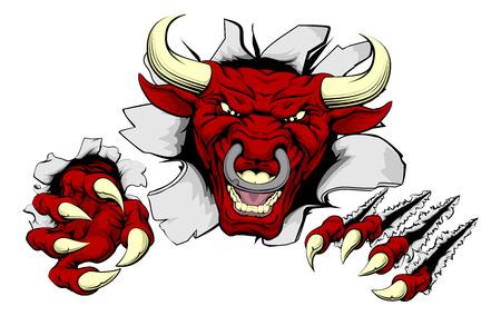 Un esempio di una ricerca difficile red bull sport animale mascotte o il carattere sfondare Archivio Fotografico - 42598847