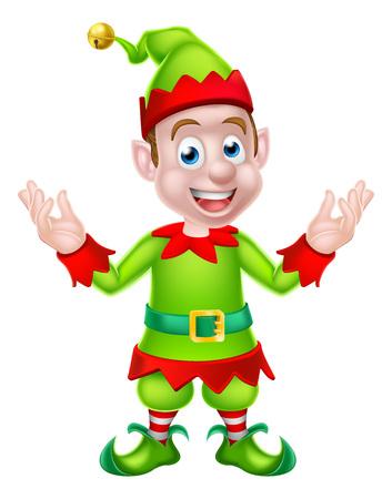Cartoon Christmas Elf or Santa Christmas helper