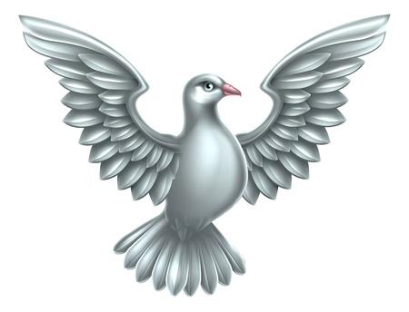 Una paloma blanca, símbolo de la paz, la fe o la esperanza Foto de archivo - 46975571