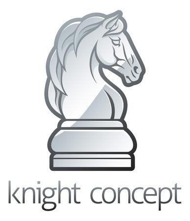 Une illustration d'une pièce d'échecs icône de cheval de chevalier