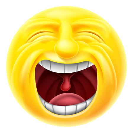 Krzyczący cartoon emotikonów emotikony buźkę znaków Ilustracje wektorowe