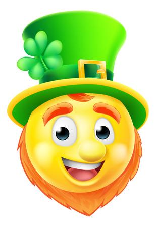 Een cartoon St Patricks Kabouter van de Dag emoji emoticon karakter