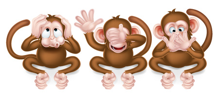 The three wise monkeys, hear no evil, see no evil, speak no evil