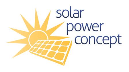 Koncepcja energią słoneczną energię ikona panelu słonecznego i fotowoltaicznego panel słoneczny komórki ze słońcem Ilustracje wektorowe