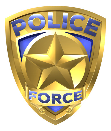 A Police Force Gold Badge with a star in the centre