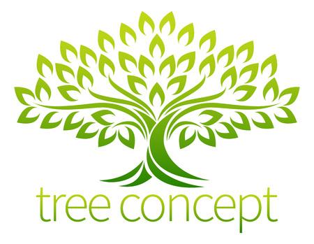Een gestileerde symbool concept illustratie boom icoon