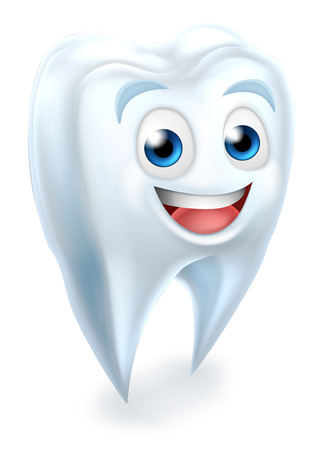 A cartoon cute tooth dental dentists mascot character