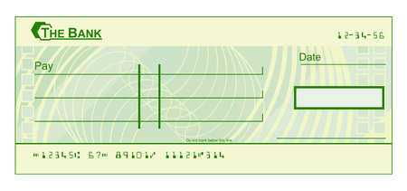 A blank cheque check template illustration