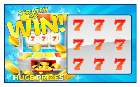 A slot machine lottery instant scratch and win scratchcard
