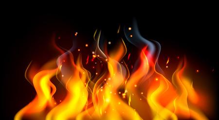 Ein Feuer oder brennende Flammen abstrakten Hintergrund Illustration Vektorgrafik