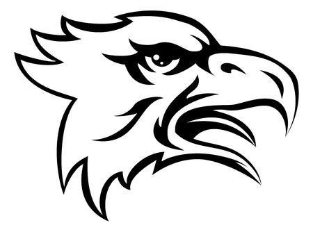 Une illustration d'un animal aigle signifie sport tête de mascotte