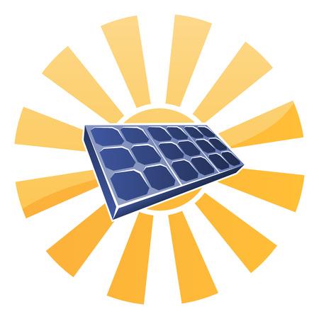 koncepcja komórki Słońce i fotowoltaika panel słoneczny Ilustracje wektorowe