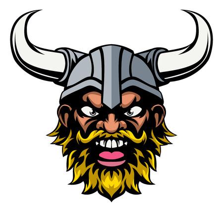 A mean looking cartoon viking sports mascot
