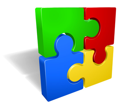 A jigsaw puzzle pieces icon illustration Vector Illustration