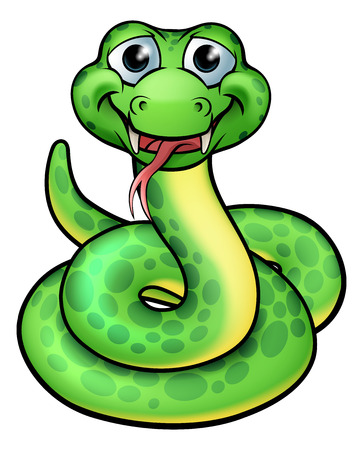 A cartoon snake character illustration