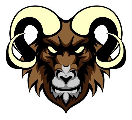 スポーツ マスコット頭を意味する ram の動物のイラスト