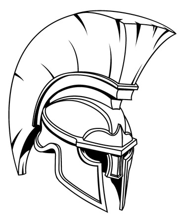 A Spartan, Trojan or Roman gladiator Greek style warrior helmet