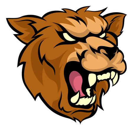 Een illustratie van een grizzly beer dier betekenen sport mascotte hoofd