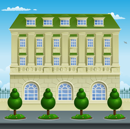 Victorian or Georgian smart expensive town or country house building mansion