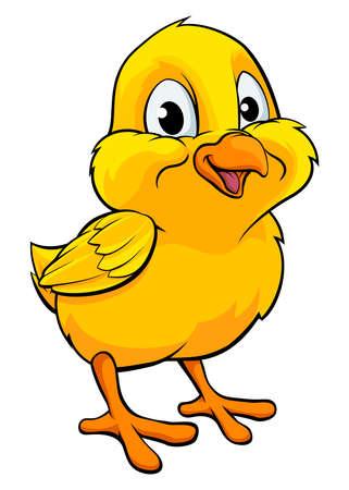 A cartoon yellow Easter chick baby chicken bird