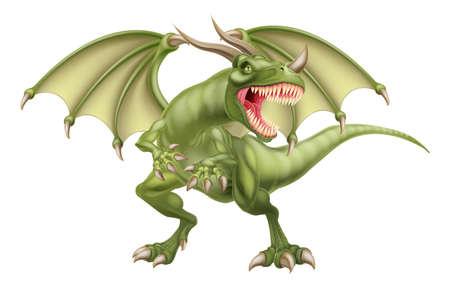 Un dragón de cuento de fantasía mitológica