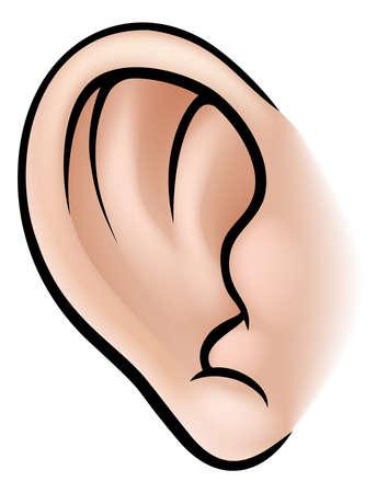 Una ilustración de una parte del cuerpo oído humano